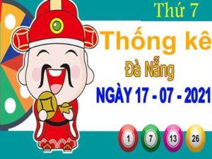 Thống kê XSDNG ngày 17/7/2021 đài Đà Nẵng thứ 7 hôm nay chính xác nhất